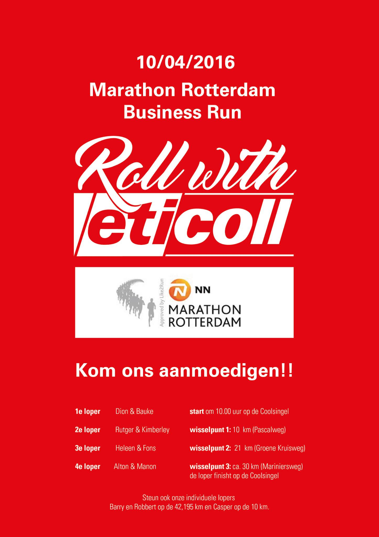 Business Run Rotterdam Marathon Eticoll